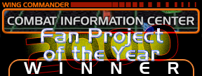 Voted Wing Commander CIC's Fan Project of the Year 2000